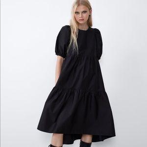 Zara Asymmetric Poplin Dress